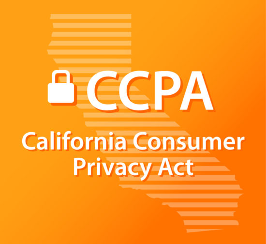 CCPA California Consumer Privacy Act Lock Orange and Gold